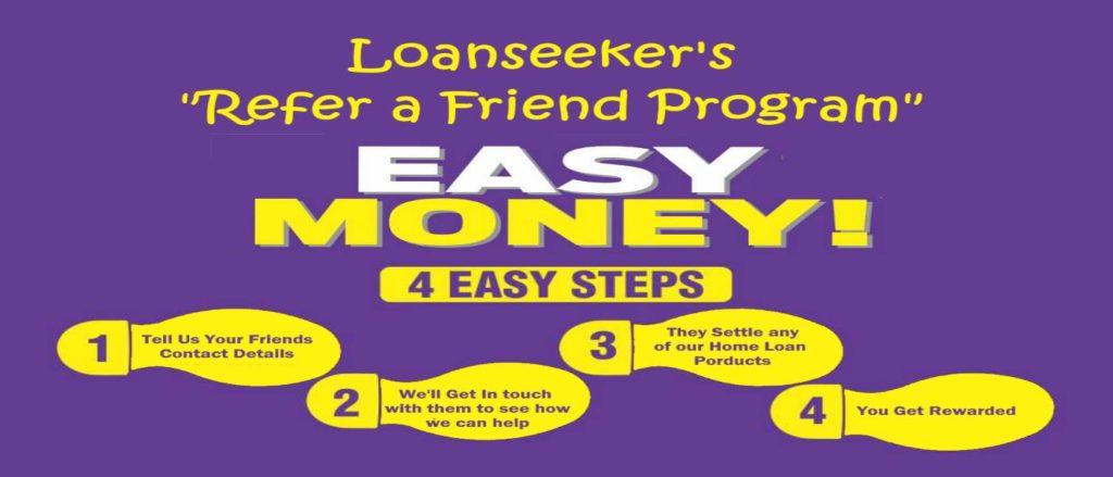 Loanseeker refer a friend 4 step process